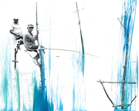 'Fishing 1' Limited Edition Print