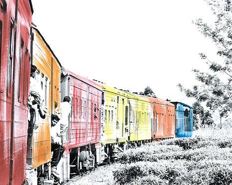 'Train Travel II' Limited Edition Print