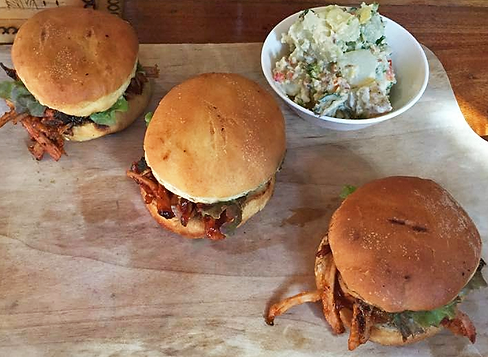 Pulled pork sliders at Sprout Tamarindo