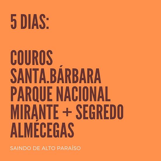 Chapada 5 dias - BASE EM ALTO PARAÍSO - p/até 4 pessoas