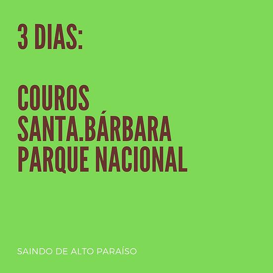 Chapada 3 dias - BASE EM ALTO PARAÍSO - p/até 4 pessoas
