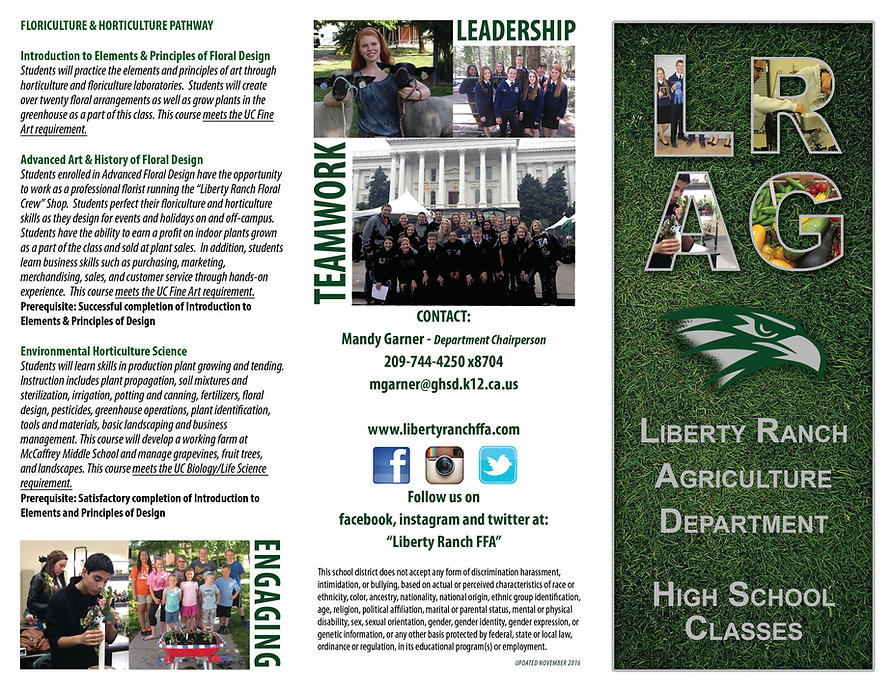 liberty ranch agriculture department classes