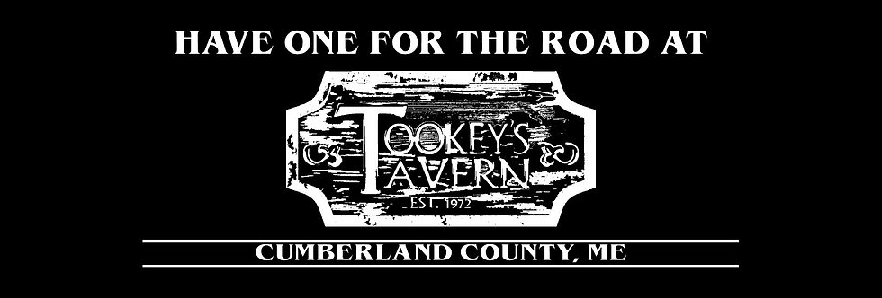 Have One for the Road at Tookey's Tavern All White Banner Tee's