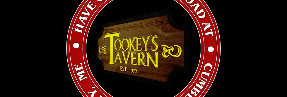 Have One for the Road at Tookey's Tavern Full Color Red Circle Tee's