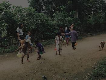 Sharing smile to Pang Ma O kids by Baan Khagee Tattoo Chiang Mai, Thailand