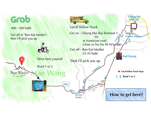 Map full version to Baan Khagee Tattoo Chiang Mai
