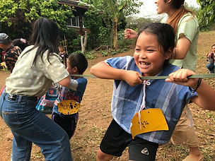 English Camp with the kids Mae Win and Baan Khagee Tattoo Chiang Mai, Thailand