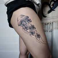 Best ethereal jelly fish tattoo at Baan Khagee Tattoo Chiang Mai