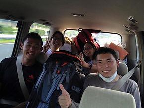 เพื่อนระหว่างโบกรถข้ามประเทศที่ญี่ปุ่น จากภาคใต้กลับภาคกลาง
