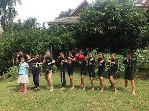 Boxing class with Ariel and Baan Khagee Tattoo Chiang Mai at Baan Sukhito