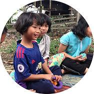 Kid at Pang Ma O village