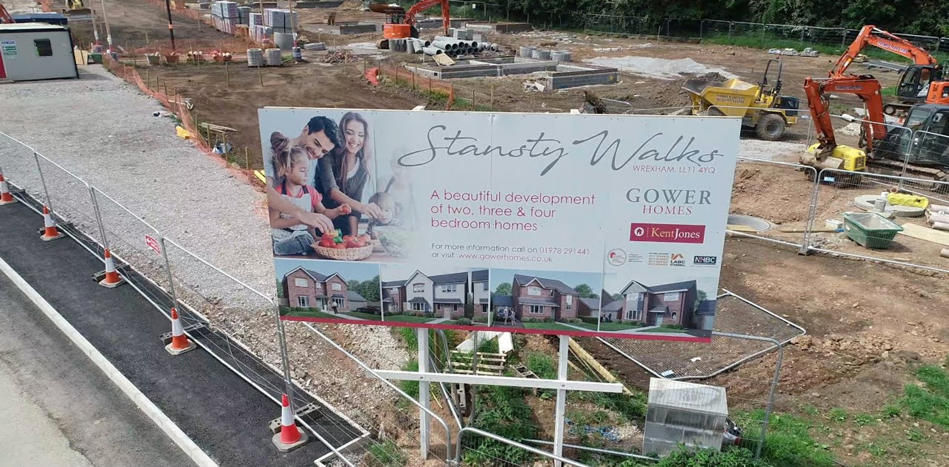 Construction of Stansty Walks 28th May