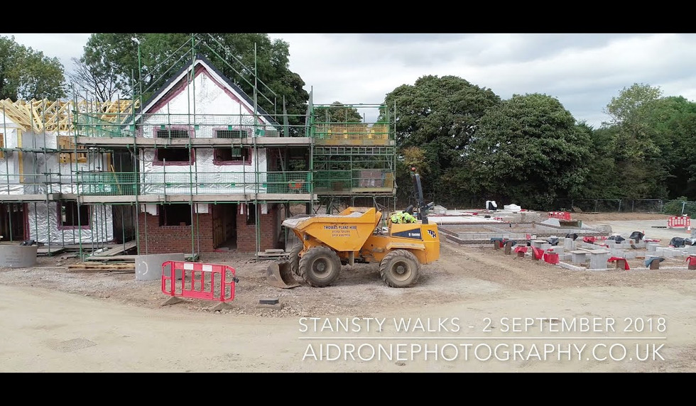 Construction of Stansty Walks 2nd September