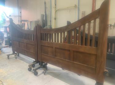 Lysterfield double gate in Rust effect finish