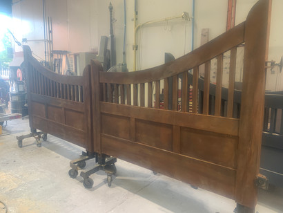 Lysterfield double gate in Rust effect finish