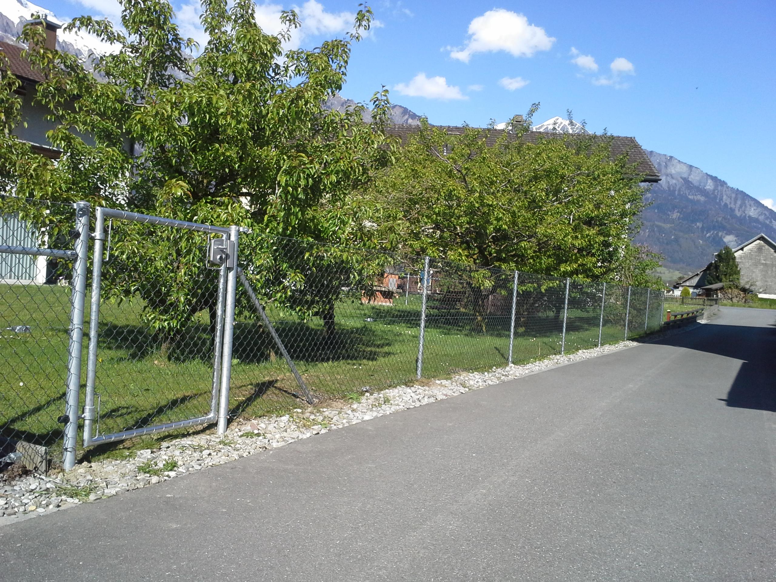 Diagonalgeflechtzaun in Bad Ragaz(SG