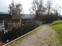 Diagonalgeflechtzaun in Weinfelden (