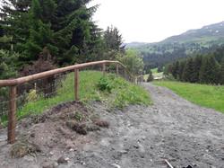 Weidezaun in Valbella mit Knotengitt