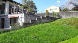 Diagonalgeflechtzaun in Maienfeld(GR