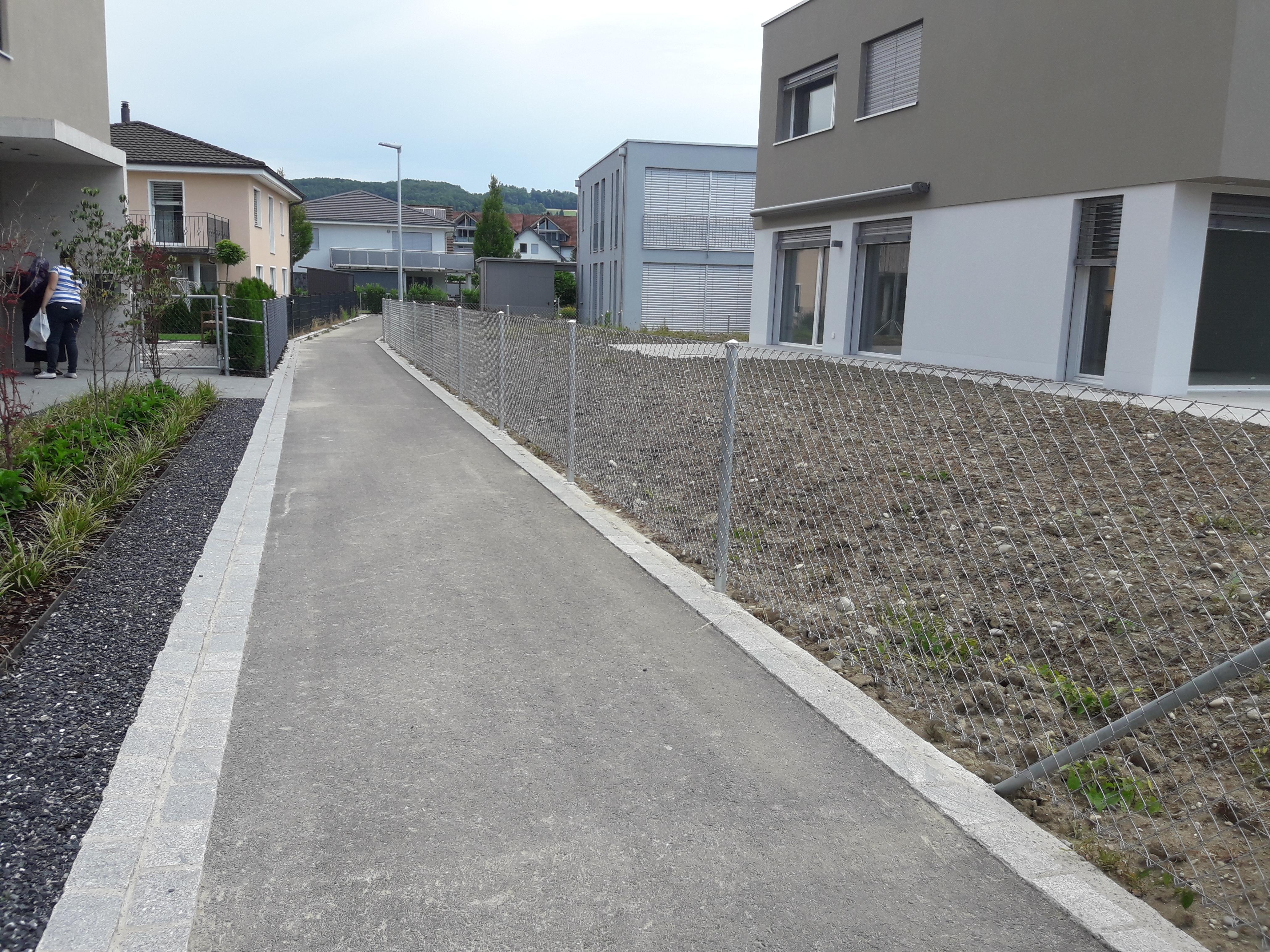 Diagonalgeflechtzaun in Weinf