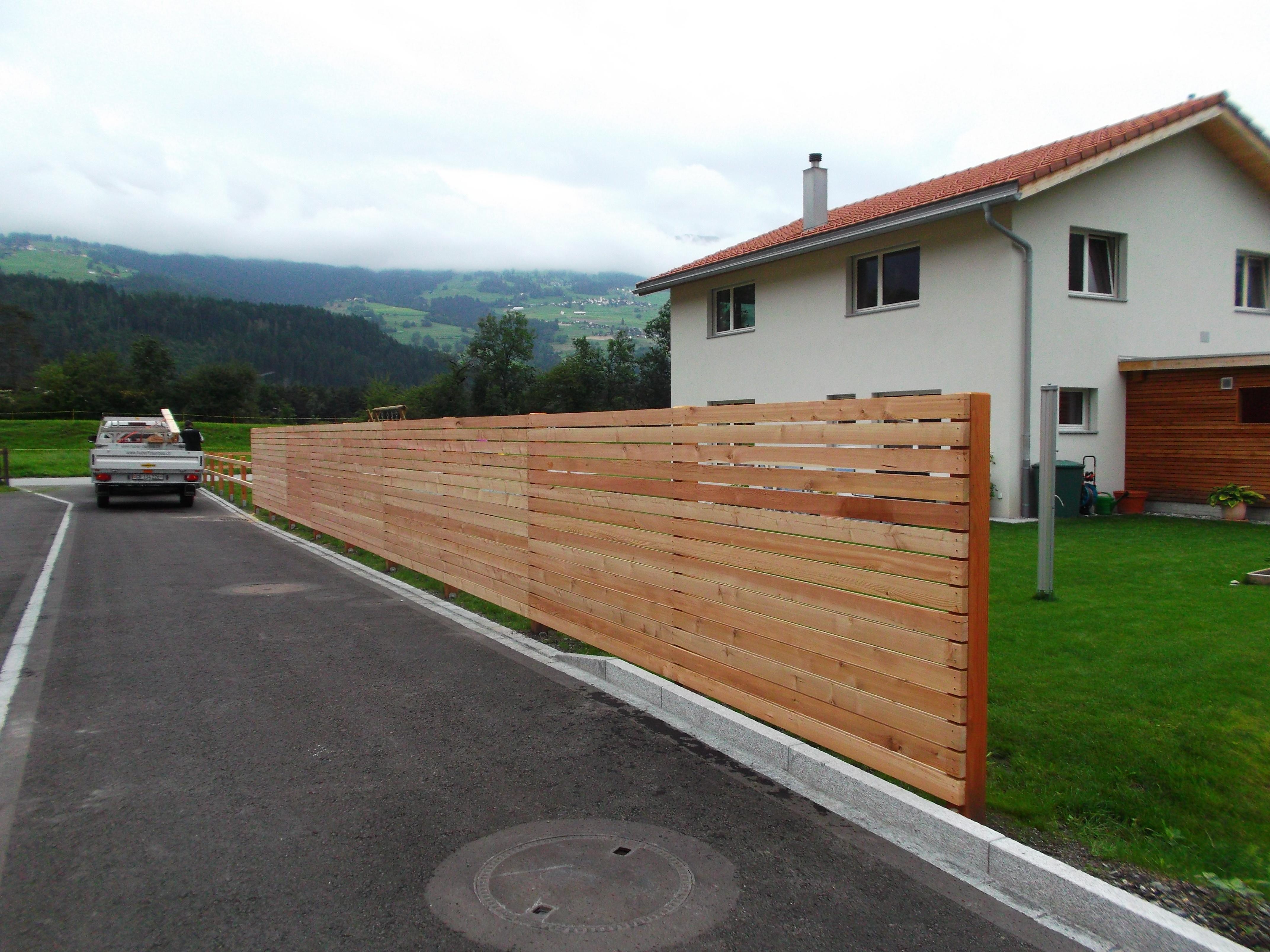 Sichtschutz mit Holz