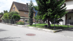Diagonalgeflechtzaun in Zizers(GR) J