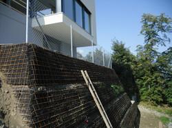 Diagonalgeflechtzaun in Buchs(SG) Ju