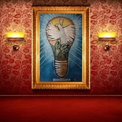 Apostole of peace 100 x 150 cm light on 2019- 20
