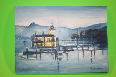 Schloss Ort  70x50 cm oil on canvas
