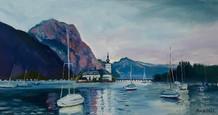Schloss Ort 💗 80 x 42 cm oil on canvas