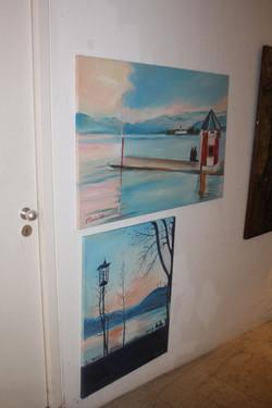 my paintings exhibit in gallery Herzerl Gmunden Austria