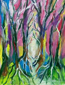 paradise cm acrylic painting