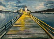 Schloss Ort 70 x 50 cm oil on canvas