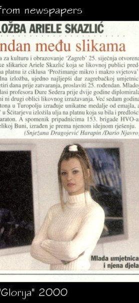 "2000. The oil on canvas exhibition in Zagreb, Gallery ""CEKAO"". The oil on canvas exhibition in Zagreb, Gallery, Croatia"