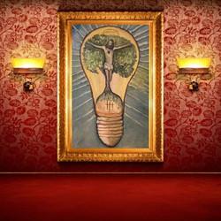 JESUS, 100 x 150 cm, relief light on 2019- 20
