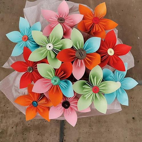 Box of 12 Rainbow Kusodama Flowers