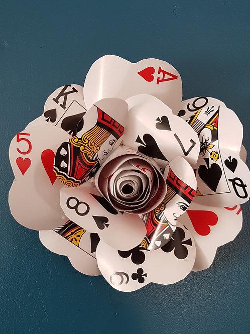 Large Playing Card Rose