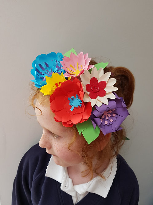 Paper Flower Crown on Ribbon