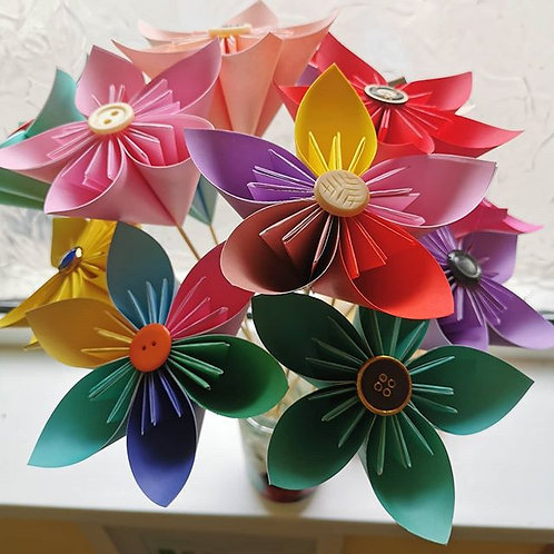 3 Kusodama Flowers