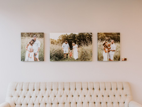 Our Canvas Displays at The Charleston Birth Place || Charleston Newborn Photographer