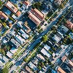 Luchtfoto van een Huizen