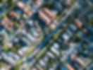 住宅の上空からの眺め