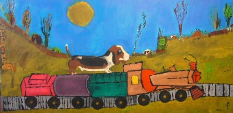 Trained Dog 48x24