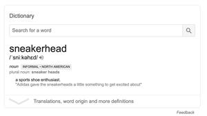 Definition of sneaker head, Halfbutfull design