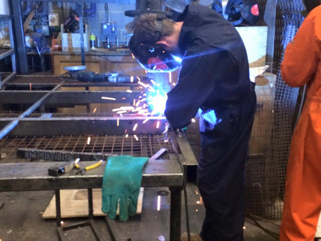 Sparks fly in the workshop! Welding Poseidon's Throne!