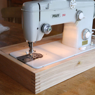 Oak Sewing Machine Base