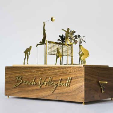 Beach Volleyball Trophy Automaton
