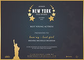 Best Young Actress NY Film Awards