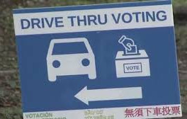 County Elections administrator addresses drive through voting