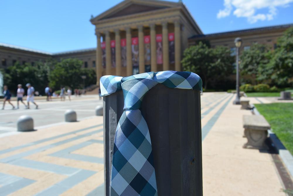Blue Plaid Tie Philadelphia Museum of Art